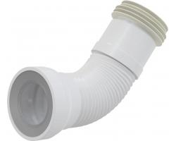 Раздвижной слив для унитаза AlcaPlast A970 (белый)