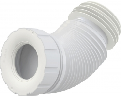 Раздвижной слив для унитаза AlcaPlast A97SN (белый)