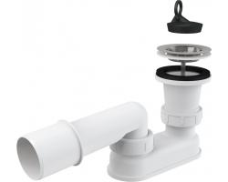 Сифон для душевого поддона AlcaPlast A461-50 Ø50 мм (хром глянец, с гидрозатвором)