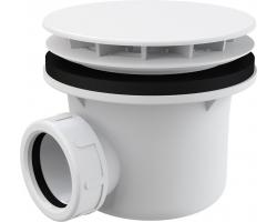 Сифон для душевого поддона AlcaPlast A49B Ø90 мм (внешние части пластик, белый)