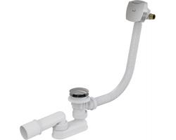 Слив-перелив для ванной AlcaPlast A508KM (автомат (click-clak), внешние части пластик, хром глянец, с напуском воды через перелив)