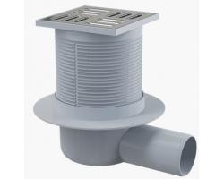 Трап для душа AlcaPlast APV31 105x105 мм. (решетка нержавеющая сталь, хром глянец, комбинированный гидрозатвор Smart)