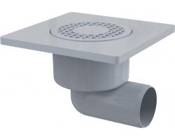 Трап для душа AlcaPlast APV3 150х150 мм. (решетка пластиковая, серая, мокрый гидрозатвор)