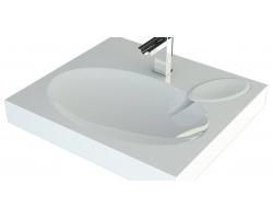 Раковина Andrea Comfort 4680028070337 60 см. (белая, для установки над стиральной машинкой)