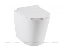 Унитаз приставной Акванет/Aquanet Rimless Atago-F BL-104N-FST 203352 (безободковый, микролифт)