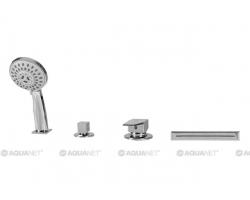Смеситель для ванны на 4 отверстия Акванет/Aquanet B12 174018 (хром глянец, врезной на борт ванны)