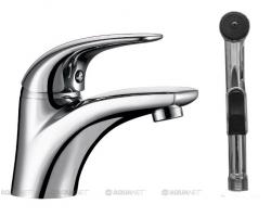 Смеситель для раковины с гигиеническим душем Акванет/Aquanet Cobra SD90363-3 187204 (хром глянец)