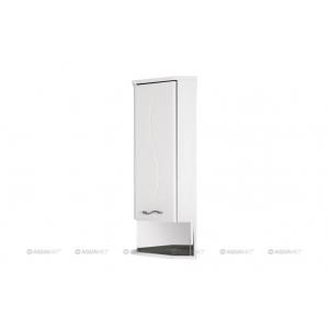 Шкаф Акванет/Aquanet Моника 36 R 36 см. 186781 (белый, навесной, угловой, одна дверь, правый)