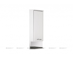 Шкаф Акванет/Aquanet Моника 36 L 36 см. 187389 (белый, навесной, угловой, одна дверь, левый)