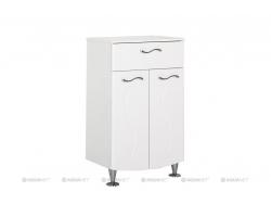 Тумба Акванет/Aquanet Моника 50 50 см. 186779 (белая, напольная, один ящик, две двери)