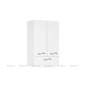 Шкаф Акванет/Aquanet Моника 50 50 см. 186780 (белый, навесной, один ящик, две двери)
