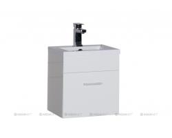 Тумба с раковиной Акванет/Aquanet Нота 40 40 см. 159137 (белая, навесная, один ящик)