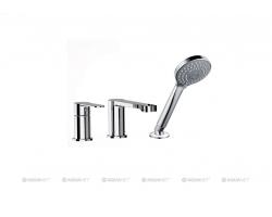 Смеситель для ванны на 3 отверстия Акванет/Aquanet Passion AF300-63С 216759 (хром глянец, врезной на борт ванны)
