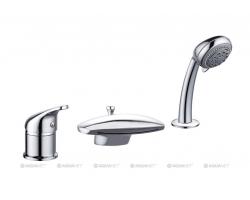 Смеситель для ванны на 3 отверстия Акванет/Aquanet Practic 2 AF111-63B 216780 (хром глянец)