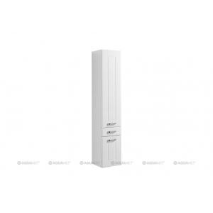 Пенал Акванет/Aquanet Рондо 35 35 см. 189159 (белый, подвесной, один ящик, две двери)