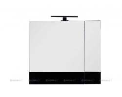 Зеркало-шкаф Акванет/Aquanet Верона 75 75 см. 175385 (чёрное, камерино)