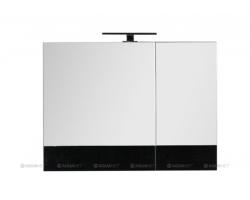 Зеркало-шкаф Акванет/Aquanet Верона 90 90 см. 172340 (чёрное, камерино)