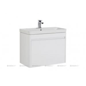 Тумба с раковиной Акванет/Aquanet Вилора 80 80 см. 196945 (белая, подвесная, один ящик)