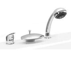 Смеситель для ванны на 3 отверстия Asd Vella-Kit SAPC-01-5A (хром глянец, врезной на борт ванны)