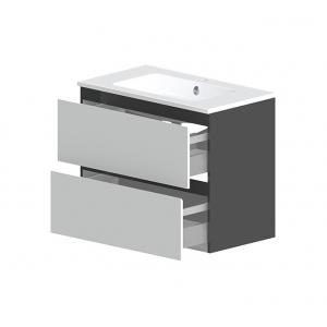 Тумба Астра-Форм Альфа 90 900х500 (белый глянец, два ящика)