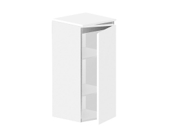 Полупенал подвесной Астра-Форм Альфа 344х354 (белый глянец, правый)