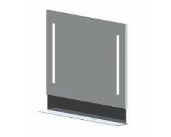 Зеркало Астра-Форм Альфа 70 680х833 (белый глянец, с полочкой)