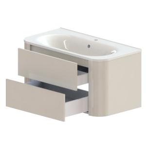 Тумба Астра-Форм Прима 100 1000х520 (белый глянец, два ящика)