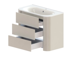 Тумба Астра-Форм Прима 100 1000х520 (белый глянец, три ящика)