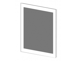Зеркало Астра-Форм Рубин 90 880х700 (белый глянец)