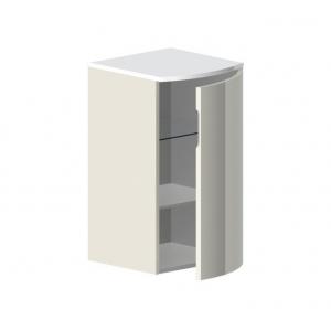 Полупенал подвесной Астра-Форм Венеция 404х380 (белый глянец, правый)