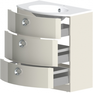Тумба Астра-Форм Венеция 100 1000х530 (белый глянец, три ящика)