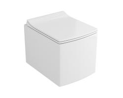 Унитаз подвесной Azario AZ-0048 (белый, безободковый, микролифт)