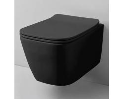 Унитаз подвесной Azario Teramo AZ-0052 (черный, безободковый, микролифт)