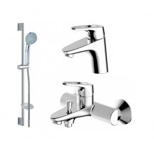Комплект смесителей для ванной комнаты Bravat Drop-D F00312C