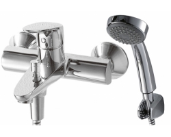 Смеситель для ванны Bravat Drop F64898C-B (хром глянец, с душевым комплектом)