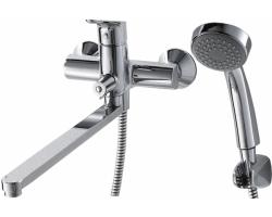 Смеситель для ванной Bravat Drop F64898C-LB (хром глянец, с душевым комплектом)