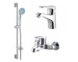 Комплект смесителей для ванной комнаты Bravat Eco F00313С