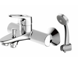Смеситель для ванны Bravat Drop-D F648162C-B-RUS (хром глянец, c душевым комплектом)