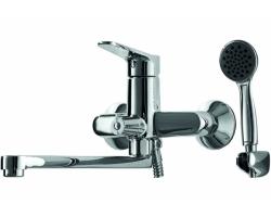 Смеситель для ванны Bravat Eco F6111147C-LB (хром глянец, с душевым комплектом)