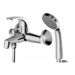 Смеситель для ванны Bravat Fit F6135188CP-B-RUS (хром глянец, с душевым комплектом)