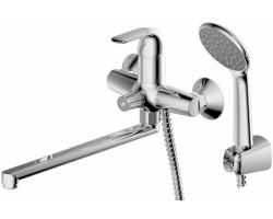 Смеситель для ванны Bravat F6135188CP-LB-RUS (хром глянец, с душевым комплектом)