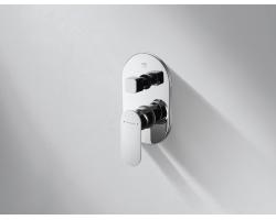 Смеситель встраиваемый для ванны Bravat Gina P69194C-ENG (внешняя часть) (3-режима)