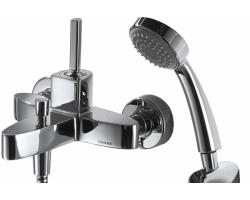 Смеситель для ванны Bravat Spring F679113C-B (хром глянец, с душевым комплектом)