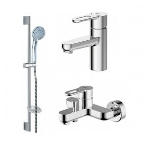 Комплект смесителей для ванной комнаты Bravat Stream-D F00311C