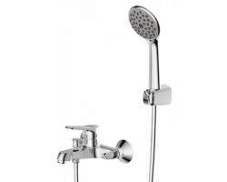 Смеситель для ванной Bravat Eco F6111147C-B (хром глянец, с душевым комплектом)
