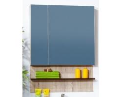 Зеркало-шкаф Бриклаер Карибы 75 75 см. (дуб кантри-венге)