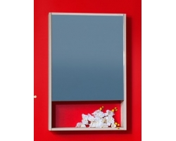 Зеркальный шкаф Бриклаер Ницца 57 (ясень навваро)