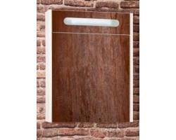 Зеркало-шкаф Бриклаер Женева 55 55 см. (светлая лиственница, белый глянец)