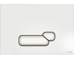 Клавиша для инсталляции Cersanit Actis BU-ACT/Wh (белая, для инсталляции Cersanit Leon New и Cersanit Linc Pro)