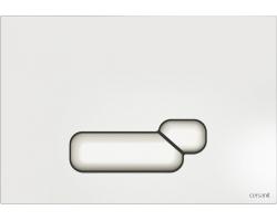 Клавиша для инсталляции Cersanit Actis BU-ACT/Whg/Gl (белая, стеклянная, для инсталляции Cersanit Leon New и Cersanit Linc Pro)
